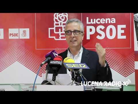 VÍDEO: El PSOE presentará 279 propuestas para lograr un mayor desarrollo de Lucena