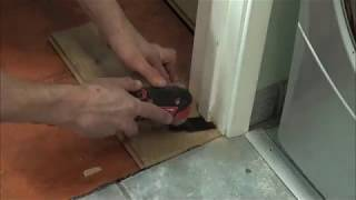 How to undercut a door frame
