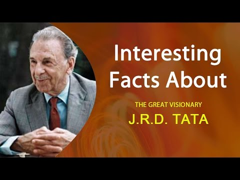 Interesting facts about J R D  TATA