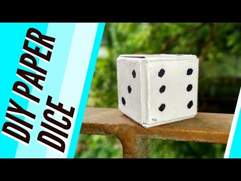How to make paper dice || কিভাবে কাগজের dice বানাবেন(bengali) By Anirban Dey