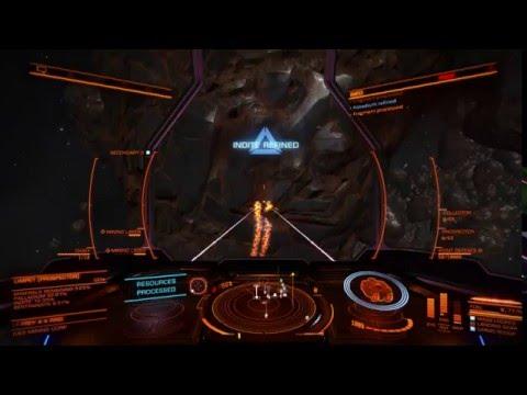 (Elite Dangerous) 900K  Mining run with 2 limpet drones!
