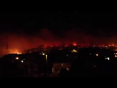 Fire in Podgorica Montenegro 2012