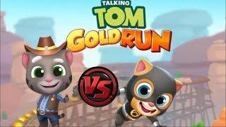 Том Бег за золотом Соревнование Супер Герой Джинджер против Ковбоя Тома