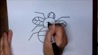 How To Draw A Fly Step By Step Simple Beginners Lesson
