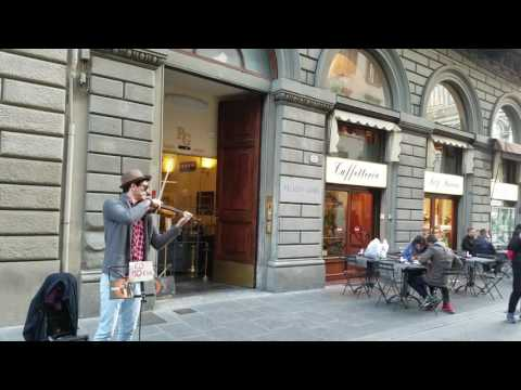 Viktor Angelov working his magic on the streets of Florence, Italy. Listen and weep to the Titanic