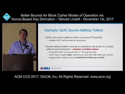 ACM CCS 2017 - Better Bounds for Block Cipher Modes of Operation via [...] - Yehuda Lindell
