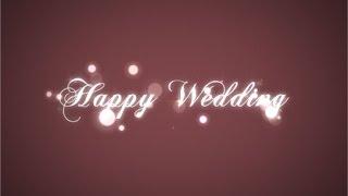 【旧】らぼわん 結婚式ムービーの無料素材 キラキラ現れるタイトル thumbnail