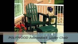 Premium Poly Patios : Polywood Adirondack Gliders