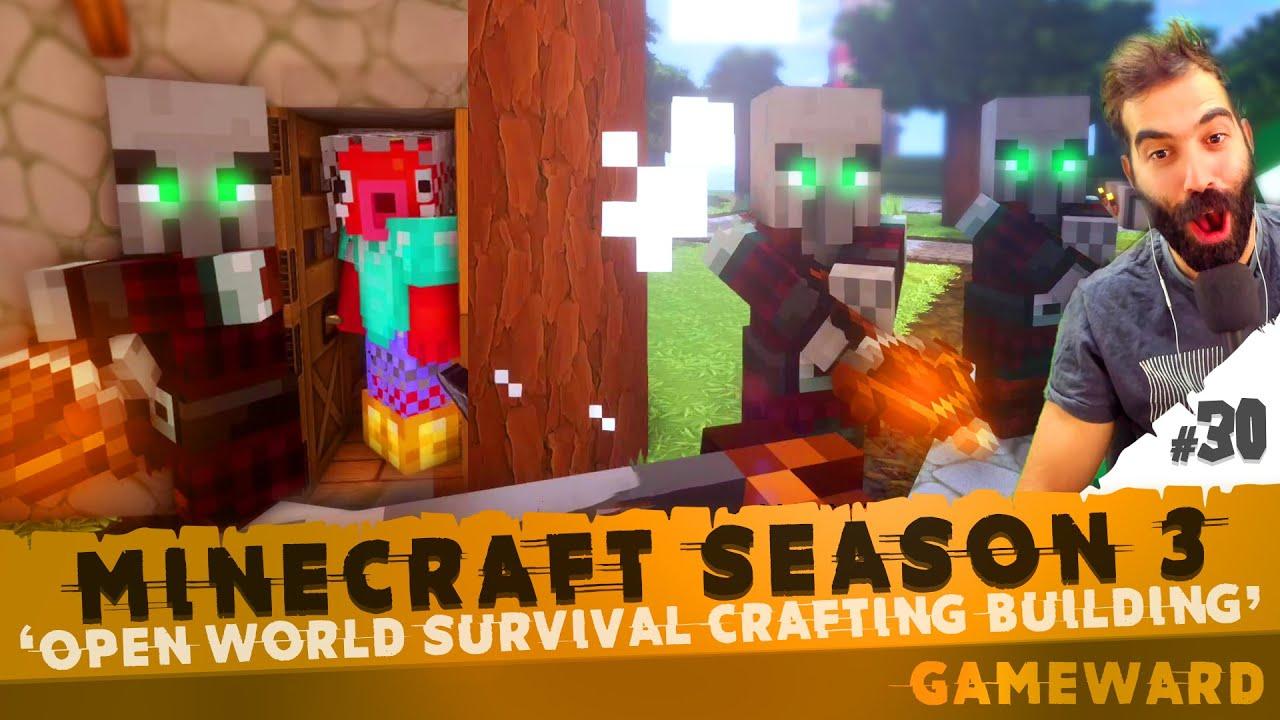 Μας την έπεσαν PILLAGERS! #30 | Minecraft Season 3 | Greek