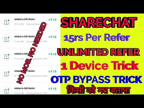 Sharechat New Refer Bypass Script Unlimited Trick with Proof
