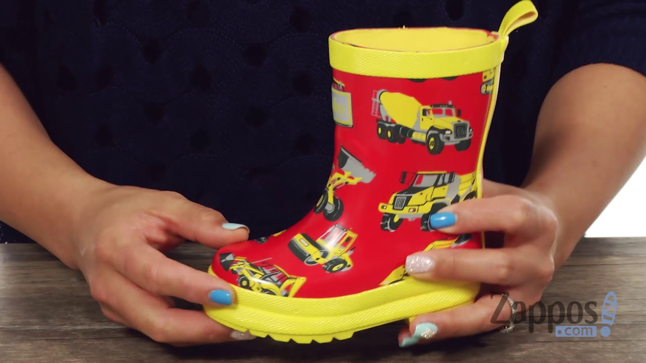 3248cd007a2 Hatley Kids Heavy Duty Machines Rain Boots (Toddler/Little Kid) SKU: 8813649