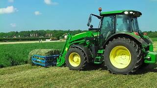 Video John Deere 5R Series Diesel Tractor With Front Loader Bale Handler download MP3, 3GP, MP4, WEBM, AVI, FLV November 2017