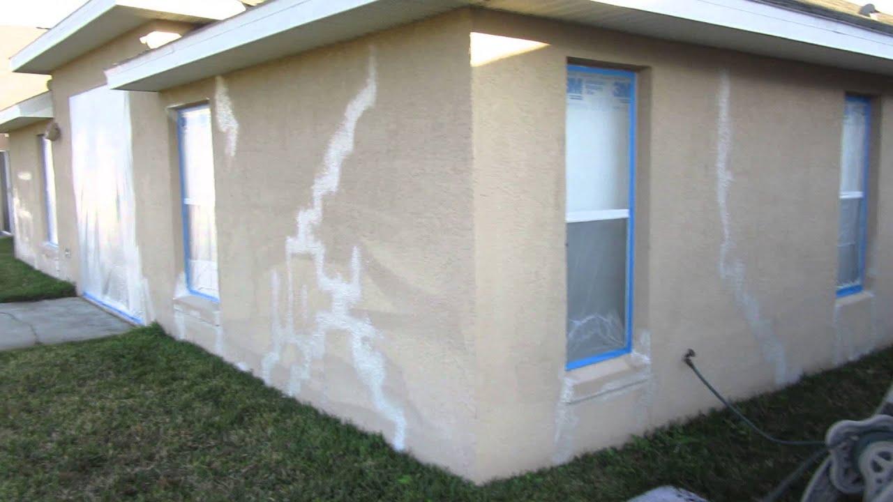 How to repair settling cracks in stucco YouTube