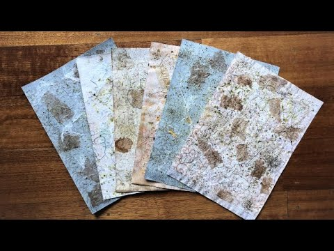 Faux Handmade Textured Paper (EASY DIY) Tutorial