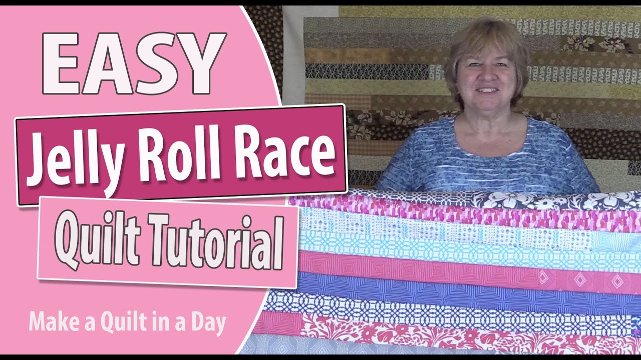Jelly Roll Race Quilt Top Tutorial: Quilting for Beginners - YouTube : jelly roll quilt patterns youtube - Adamdwight.com