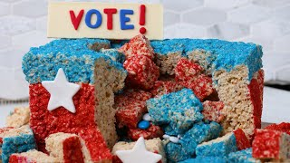 Crispie Voter Ballot Box Cake By Bliss and Baker