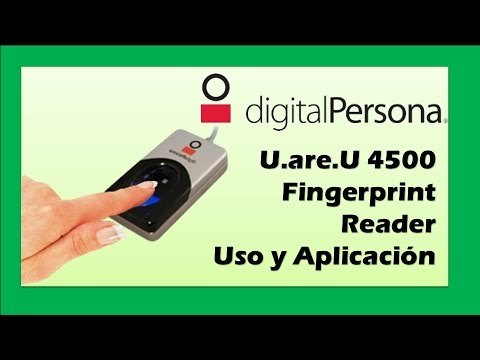 U are U 4500 Fingerprint Reader DigitalPersona Uso y Aplicación
