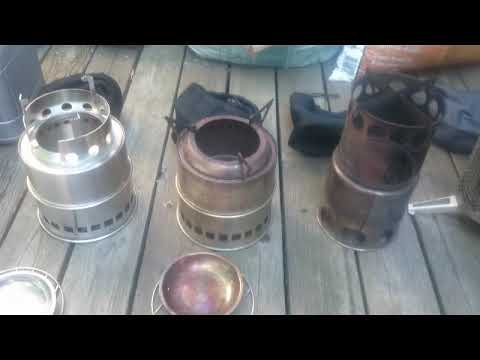 """Wood Gas Camp Stoves Compared -  """"TLUD Throwdown"""" Stove Video (Part.1)"""