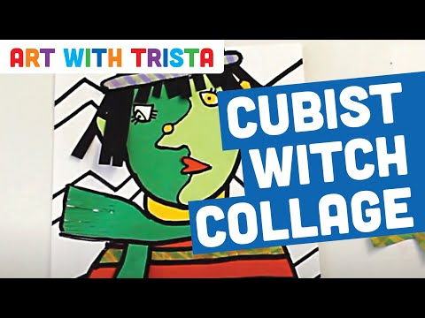 Art With Trista - Cubist Witch Collage - Step By Step
