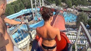 Red Tube Water Slide at Zoomarine