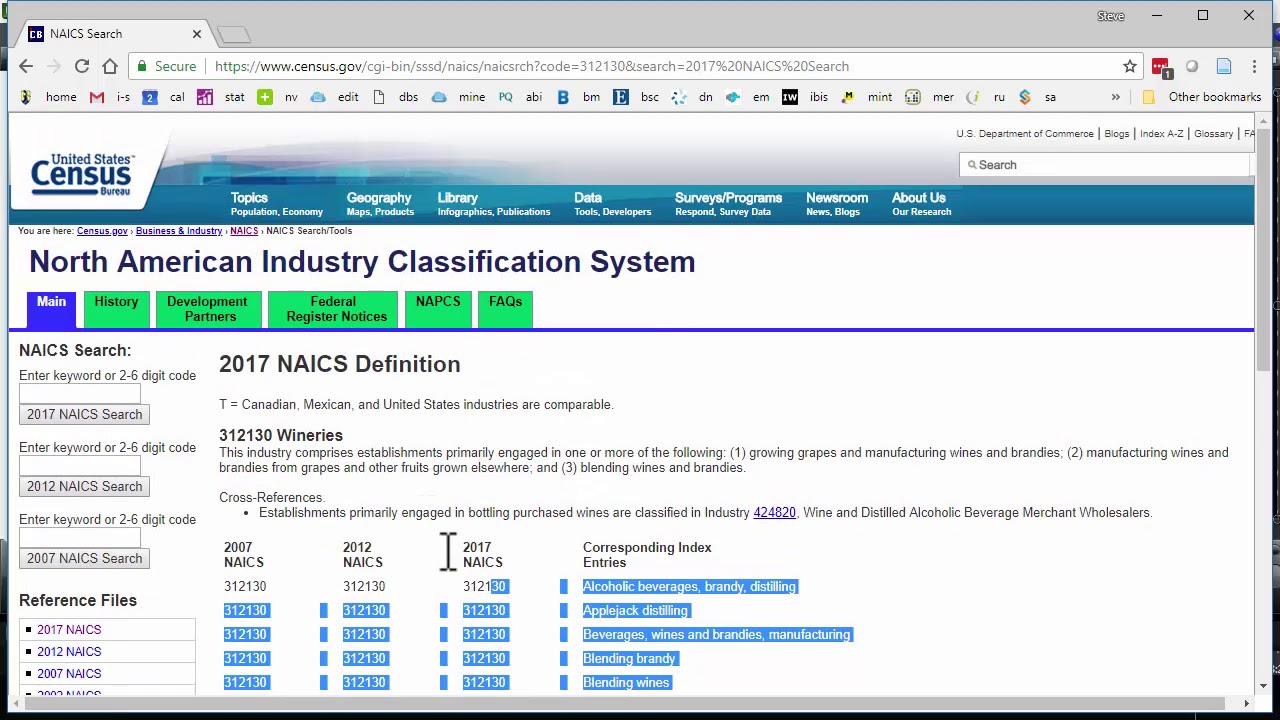 Introduction To NAICS Codes For Industry Research By Steve Cramer