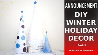 Announcement Budget DIY Winter and Holidays Decor 2018 Part 1