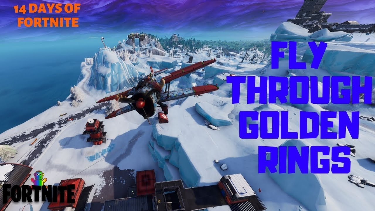 Fortnite 14 Days Of Fortnite Day 5 Challenges Fly Through Ring