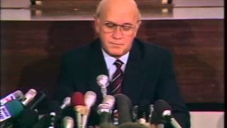 10 Feb 1990 - FW de Klerk announces the release of Nelson Mandela