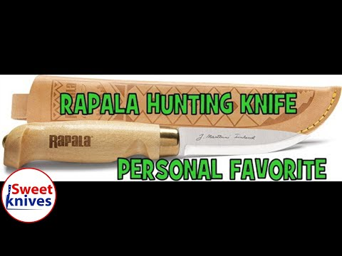 [76] Rapala Marttiini Hunting Knife Drop Point Blade - Made In Finland 420 Carbon Steel