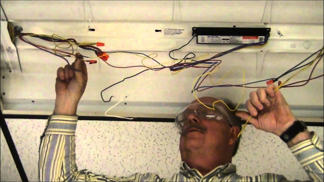 retrofitting a fixture with t8 fluorescent bulbs to single end power rh youtube com