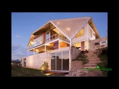 Fachadas y dise o de casas modernas en la colina youtube for Fachadas de casas interiores