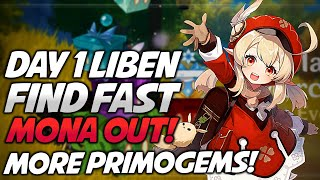 Event & Mona Out! Find Liben Fast! Genshin Impact More Free Primogems