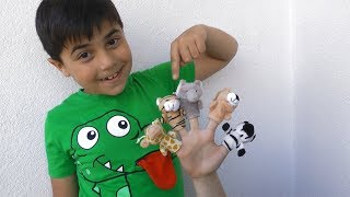 Learn Animals Names and Fingers Names with Finger Family Song Kids Song By Guka Family Show