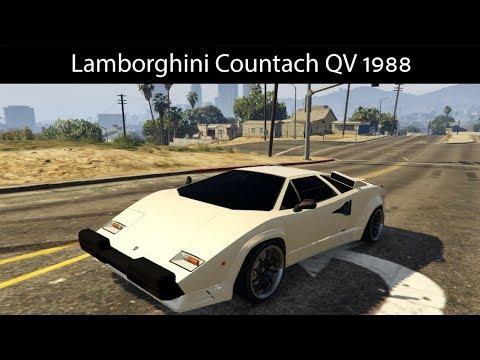 Gta 5 Lamborghini Countach Qv 1988 Mod Gta V Part 261 6x8hours
