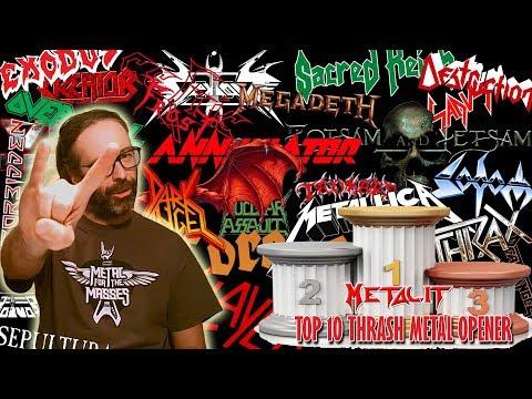 [Top 10] Le Migliori 10 Opener Thrash Metal Songs Di Sempre CLASSIC Edition