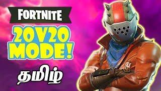 Fortnite 20v20 Teams of 20 (#1 Victory) Battle Royale Live Tamil Gaming