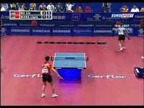 Wang Liqin - Ma Lin Tischtennis Weltmeisterschaft 07 Zagreb