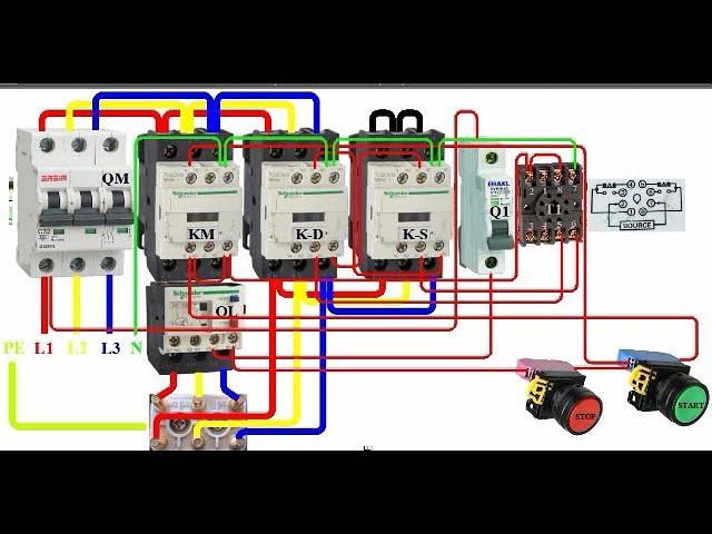 Delta Starter Cade Simu Technology, Bch Star Delta Starter Wiring Diagram