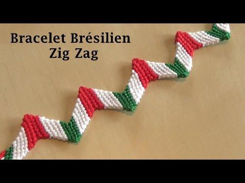 Bracelet Brésilien Zig Zag Italie (débutant ) 3 couleurs - YouTube 91f2ffb6bc65