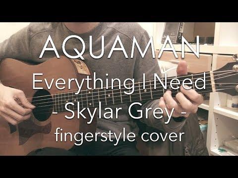 """[TAB] Everything I Need - Skylar Grey (fingerstyle Cover) / """"Aquaman"""" Movie Theme"""