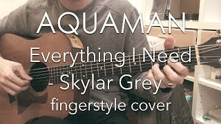 "Download [TAB] Everything I Need - Skylar Grey (fingerstyle cover) / ""Aquaman"" movie theme Mp3"