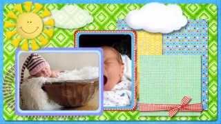 Шаблон для детского слайд шоу Малыш