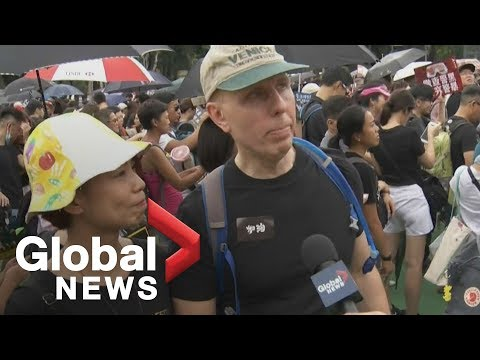 Canadians join pro-democracy protest in Hong Kong