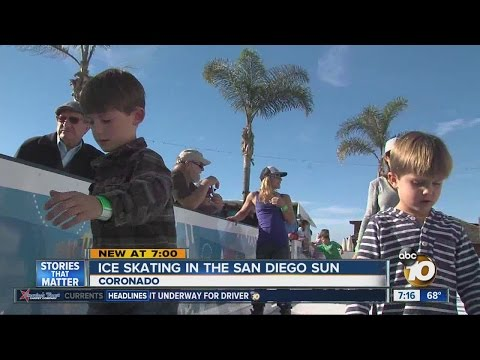 Ice skating in the San Diego sun