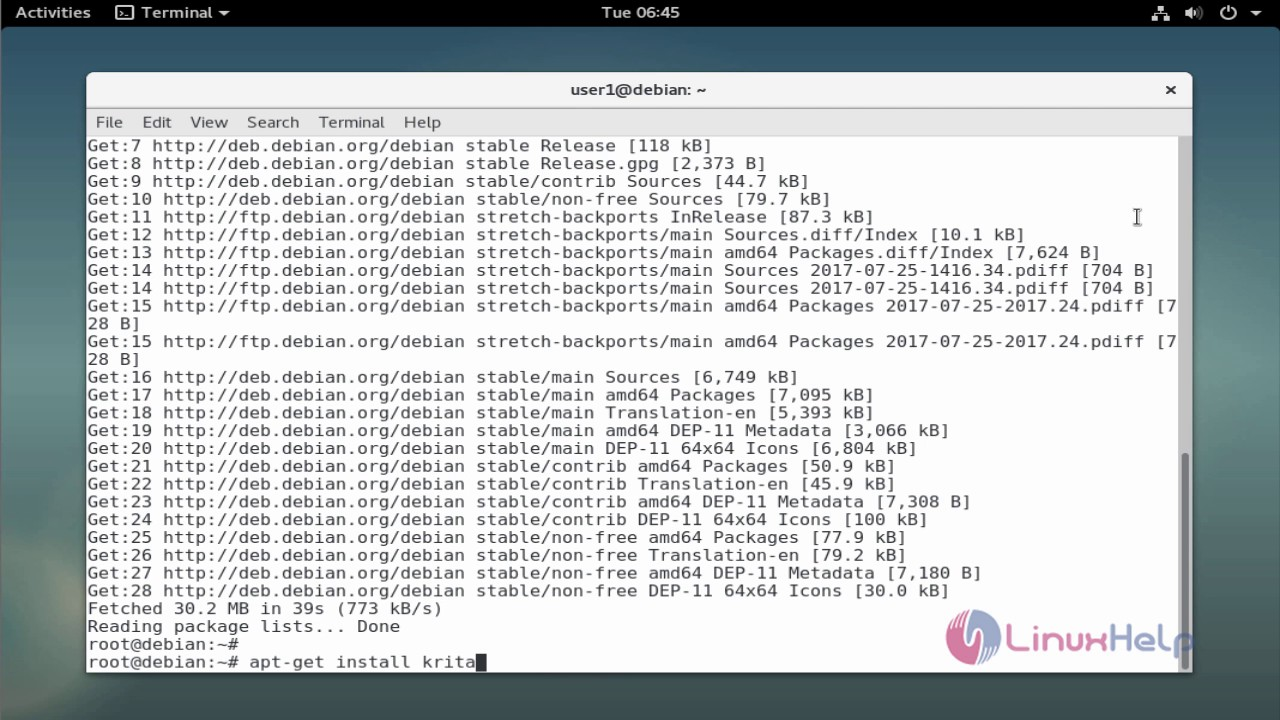 How to install Krita on Debian 9   LinuxHelp Tutorials