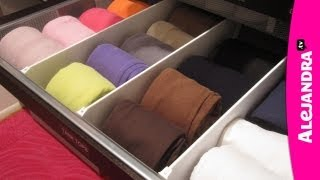 how to organize dresser drawers fold underwear bras and socks