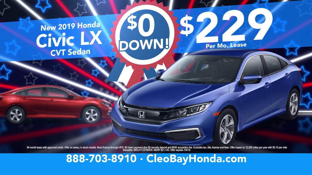 Cleo Bay Honda >> Freedom Sale Cleo Bay Honda Youtube