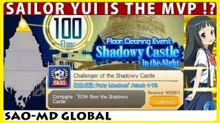 Shadowy Castle 100 Floors Clearing Event (Floor 81-100) - Yui Is The MVP? (SAO Memory Defrag) YUI 検索動画 9
