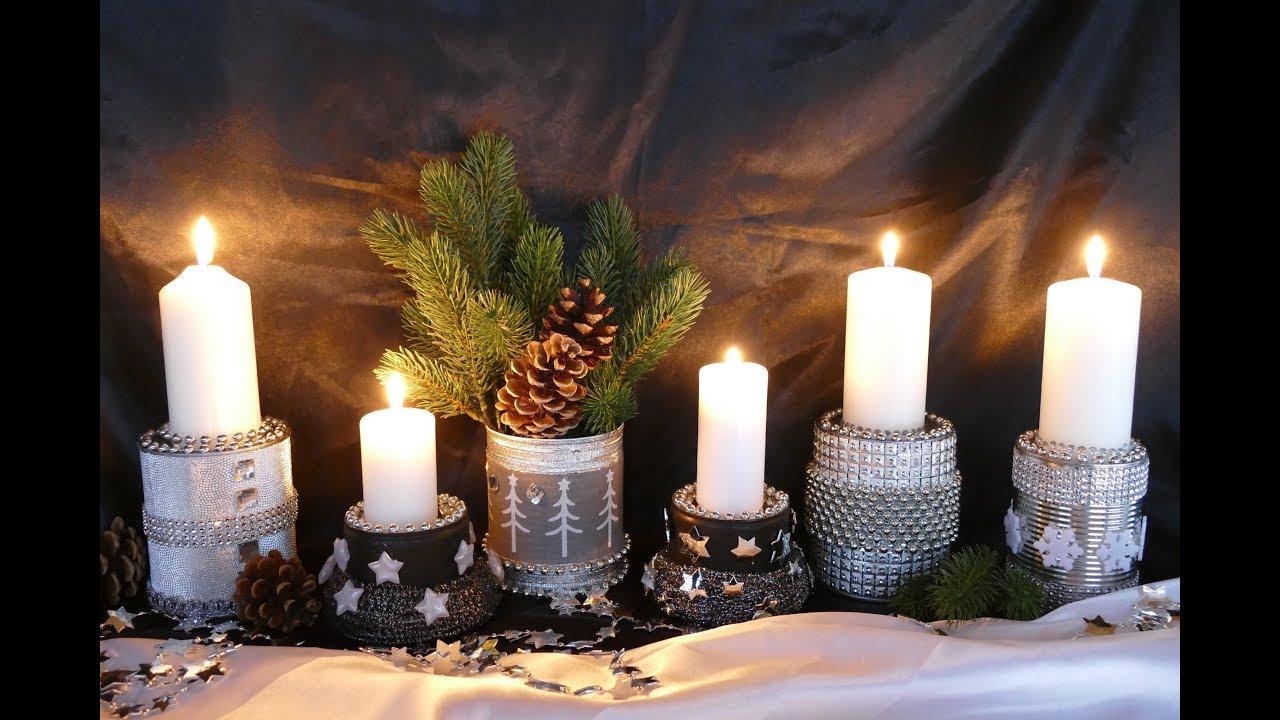 Diy Weihnachtsdeko Christmas Decoration Basteln Mit Kerzen Und