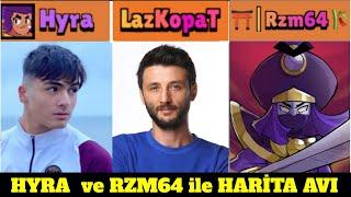 Hyra ve Rzm64 ile TRİCKSHOT PARTİSİ ve HARİTA AVI Brawl Stars